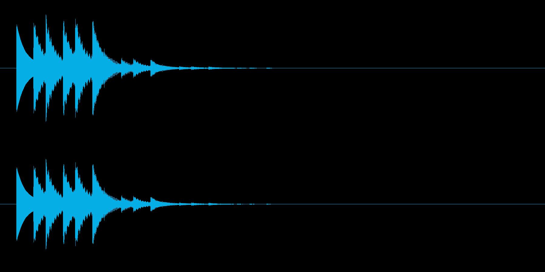 チャリチャリチャリーンなコイン獲得の音6の再生済みの波形