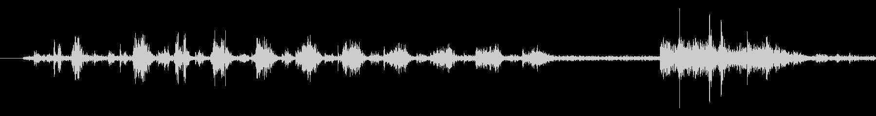 うがいする音の未再生の波形
