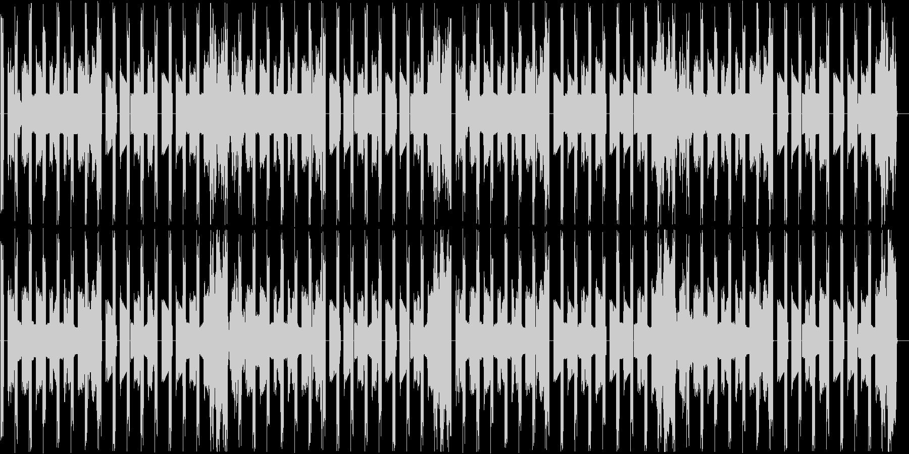 ベースとパーカッションだけの曲ですの未再生の波形