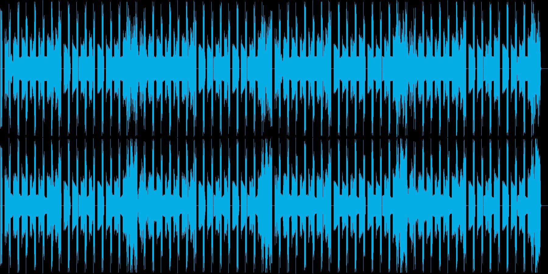 ベースとパーカッションだけの曲ですの再生済みの波形