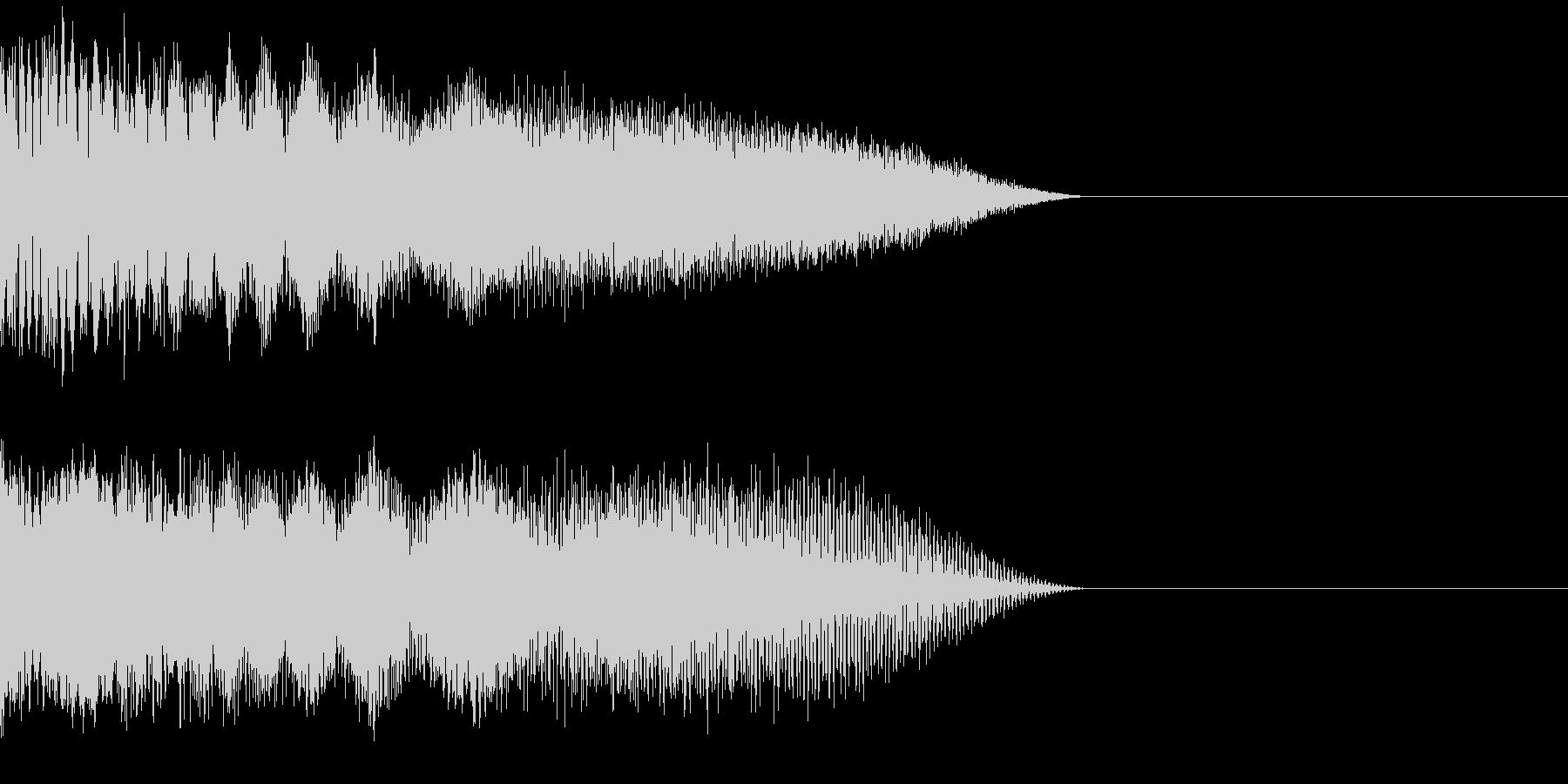 ビーム音02の未再生の波形