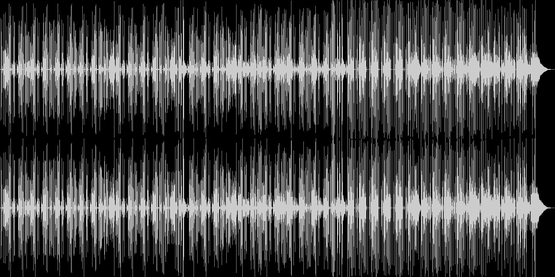 軽くてシンプルなマンドリン系BGMの未再生の波形