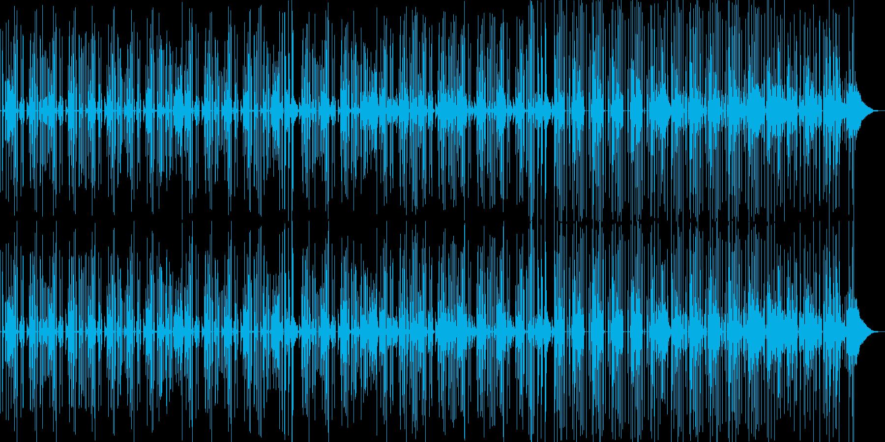 軽くてシンプルなマンドリン系BGMの再生済みの波形