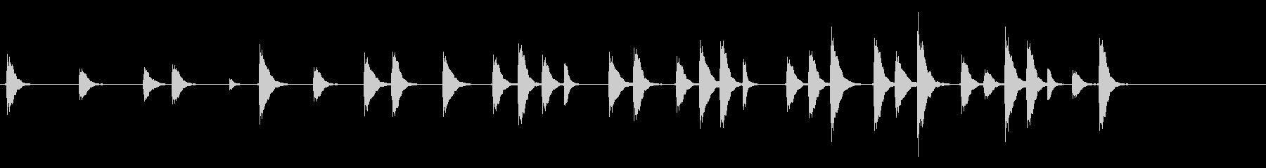 能や歌舞伎の小鼓(つづみ)のフレーズ音の未再生の波形