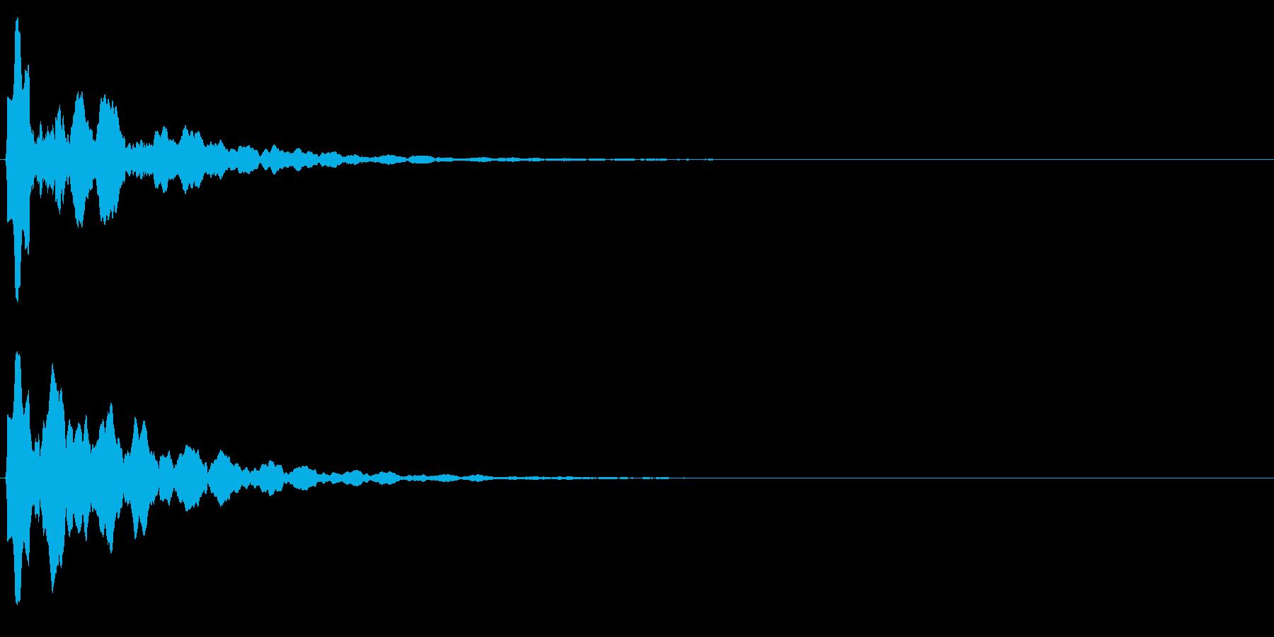 ゲームスタート、決定、ボタン音-154の再生済みの波形