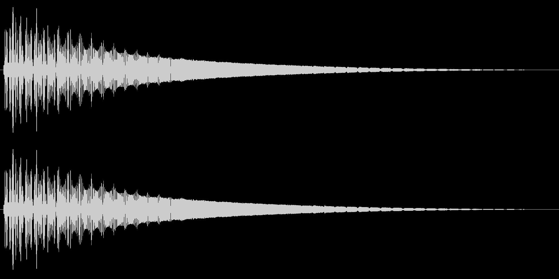 レトロなワープ音の未再生の波形