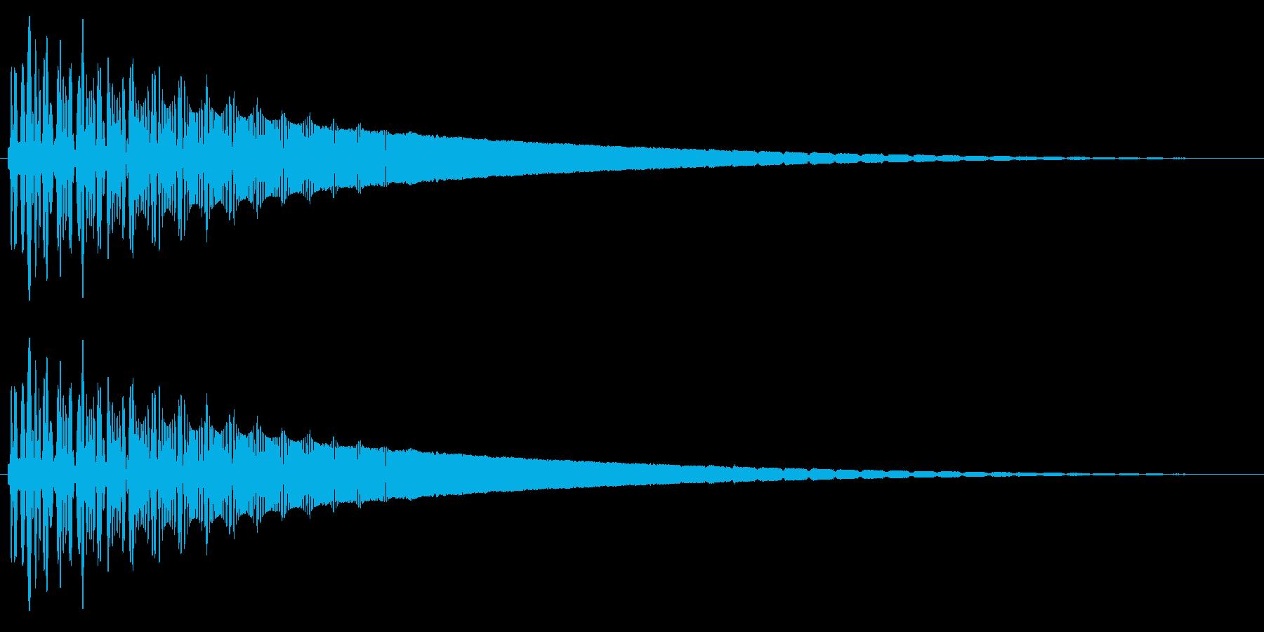 レトロなワープ音の再生済みの波形