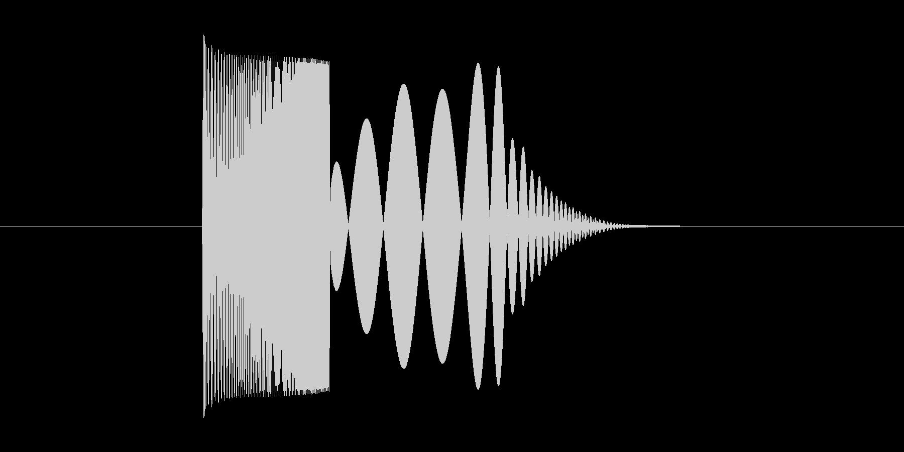 skypeの起動音みたいな音2の未再生の波形