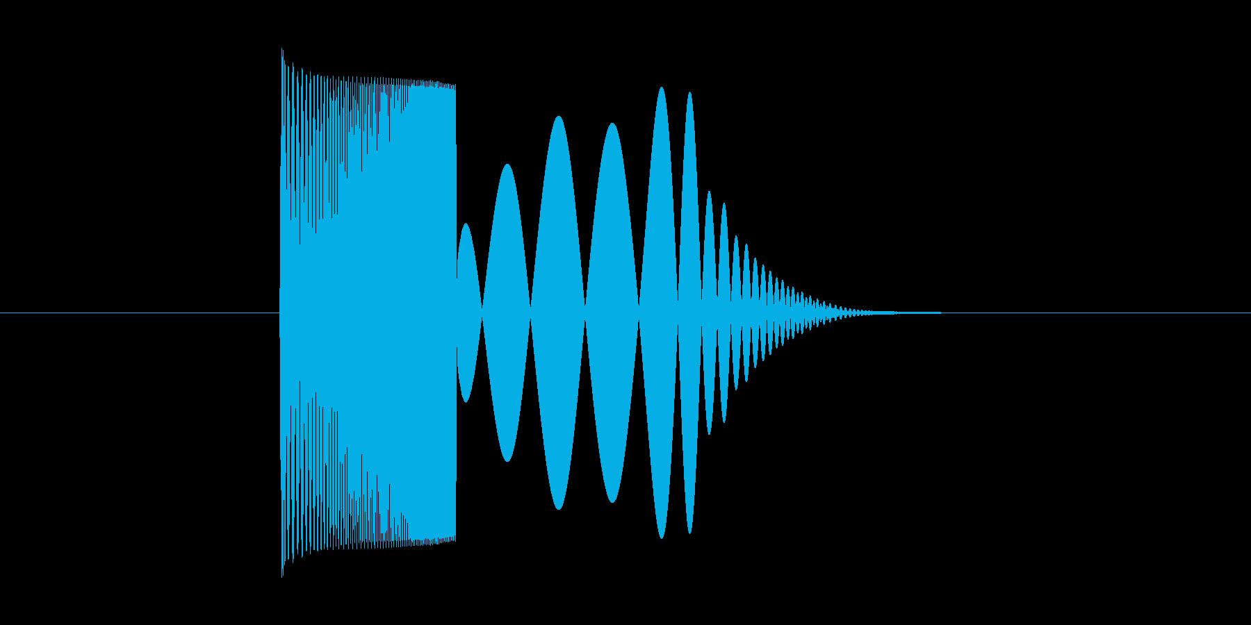 skypeの起動音みたいな音2の再生済みの波形