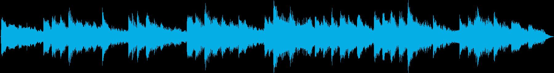 ピアノとストリングスの切ない癒し系BGMの再生済みの波形