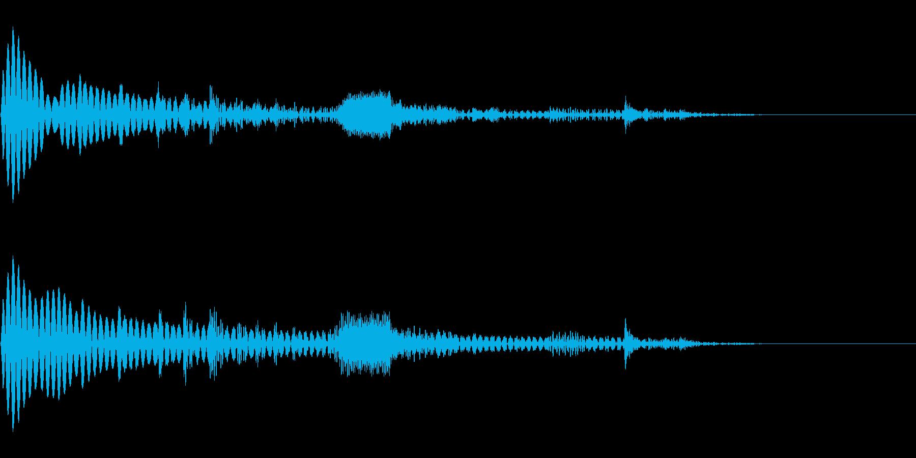 【SE 効果音】SF的な音16の再生済みの波形