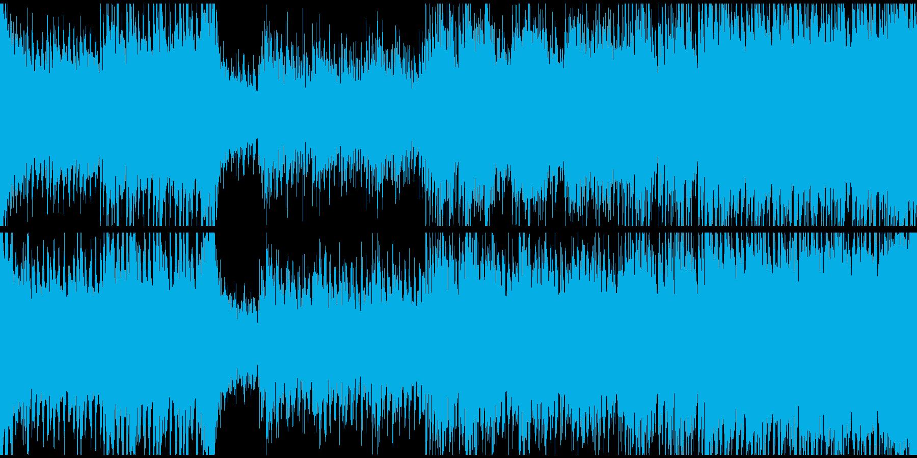 緊急事態発生!緊迫したアップテンポの曲の再生済みの波形