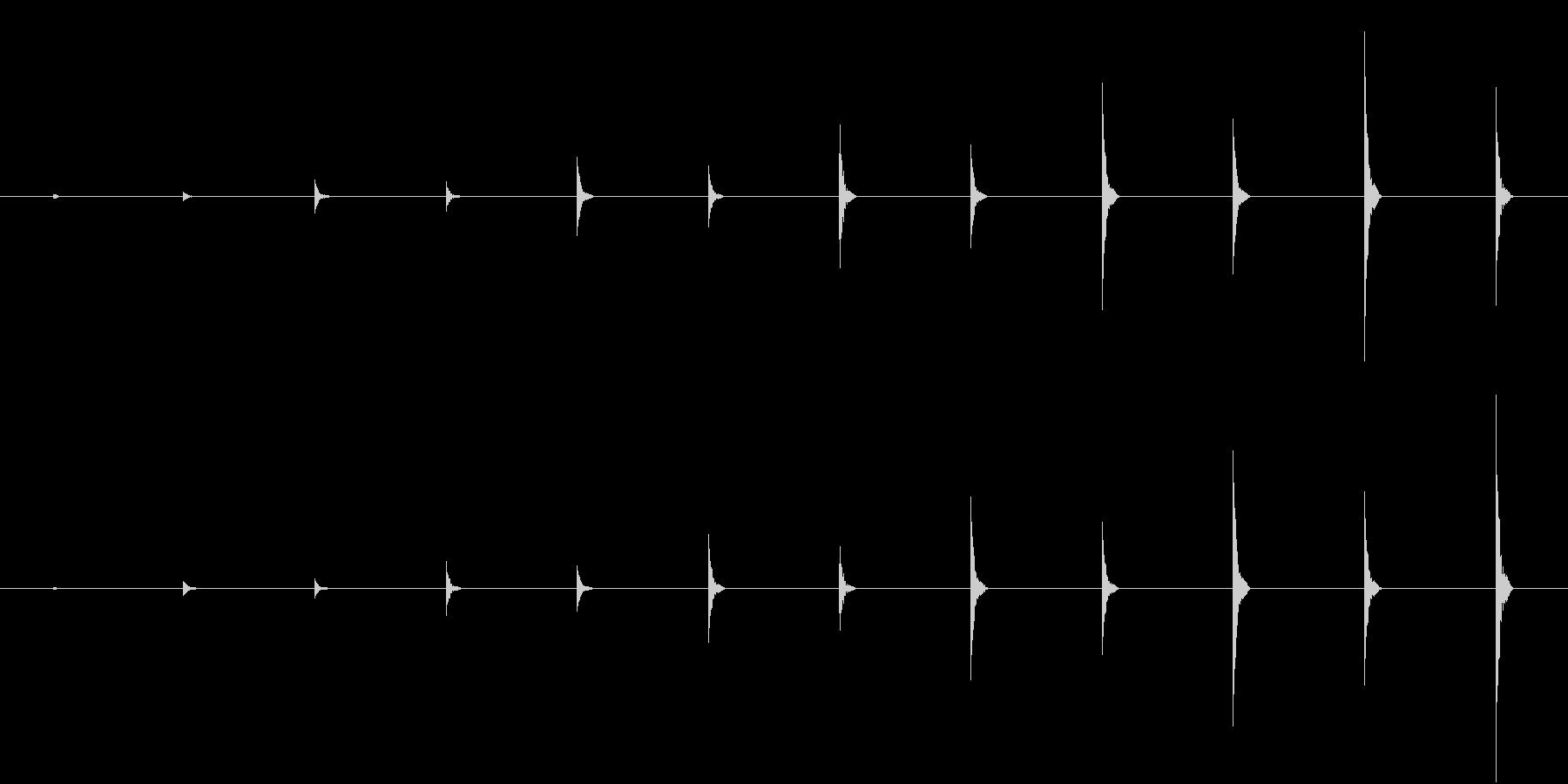かわいい足音、近づく(ビッビッビ)の未再生の波形