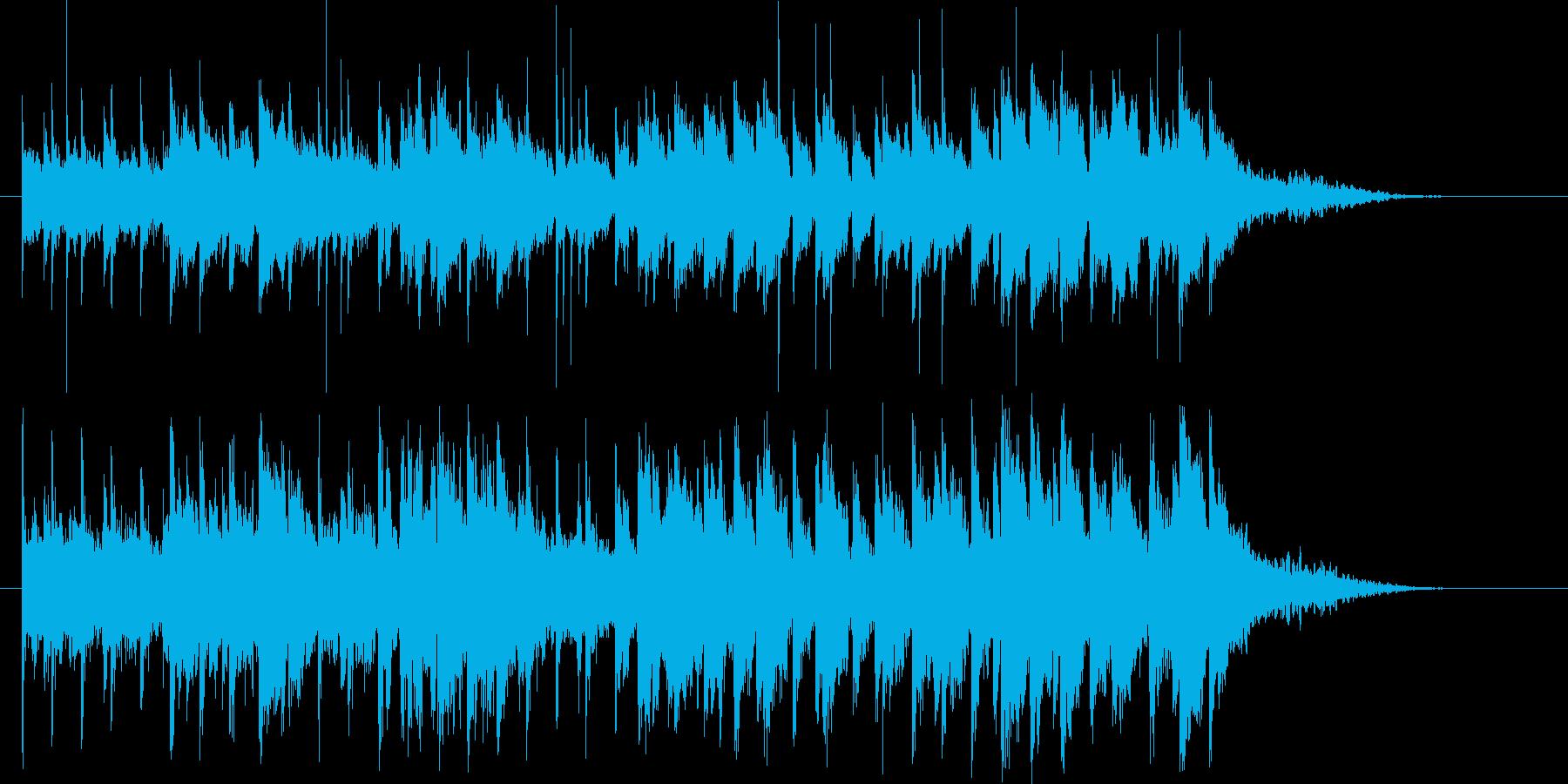 ゆったりと落ち着いた音楽の再生済みの波形