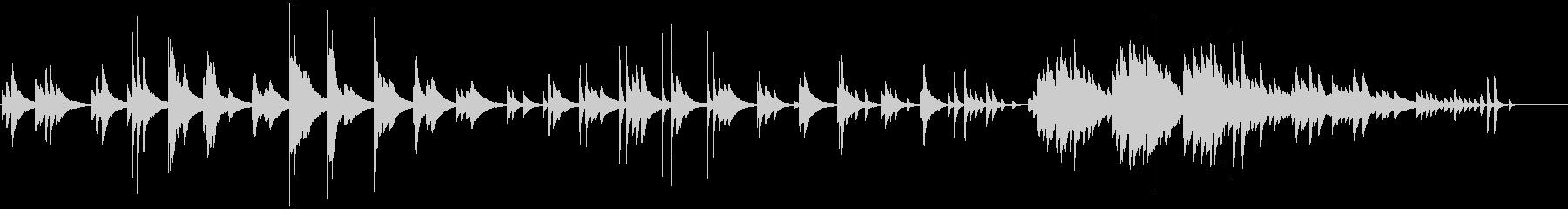切なく神秘的なピアノバラードの未再生の波形