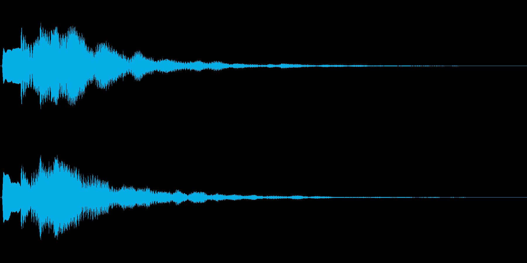 なにかの直感が働いたときの音の再生済みの波形