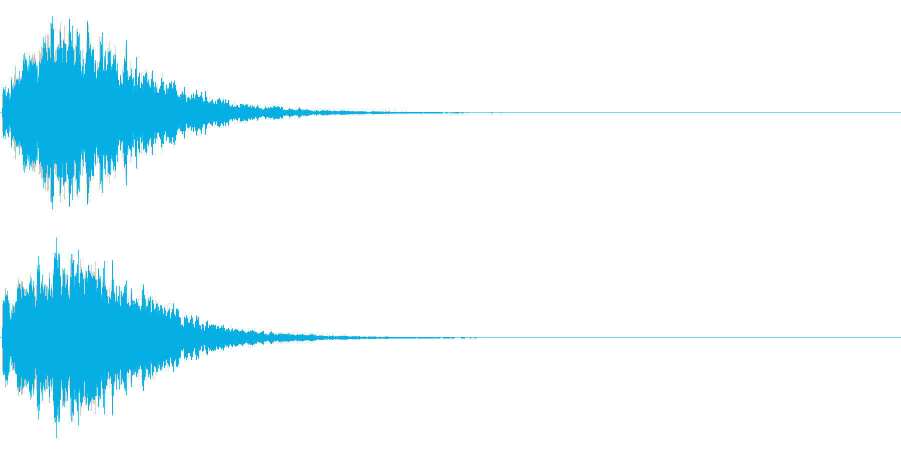 ゲームスタート、決定、ボタン音-009の再生済みの波形