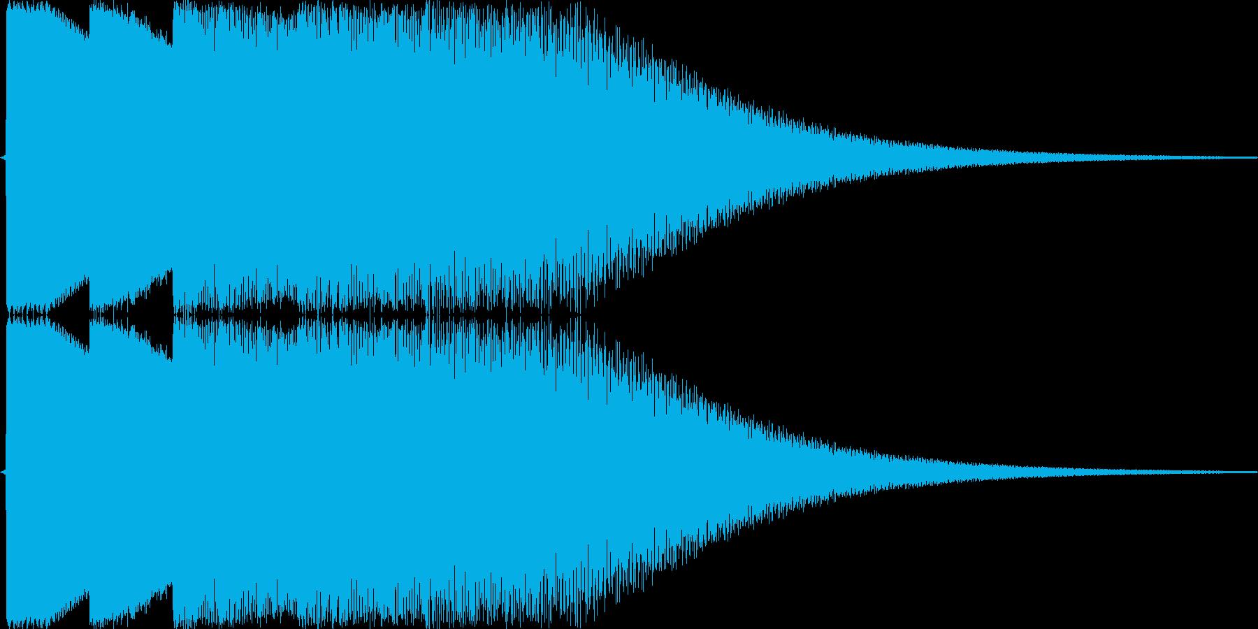 機械音のチャイムのジングルですの再生済みの波形