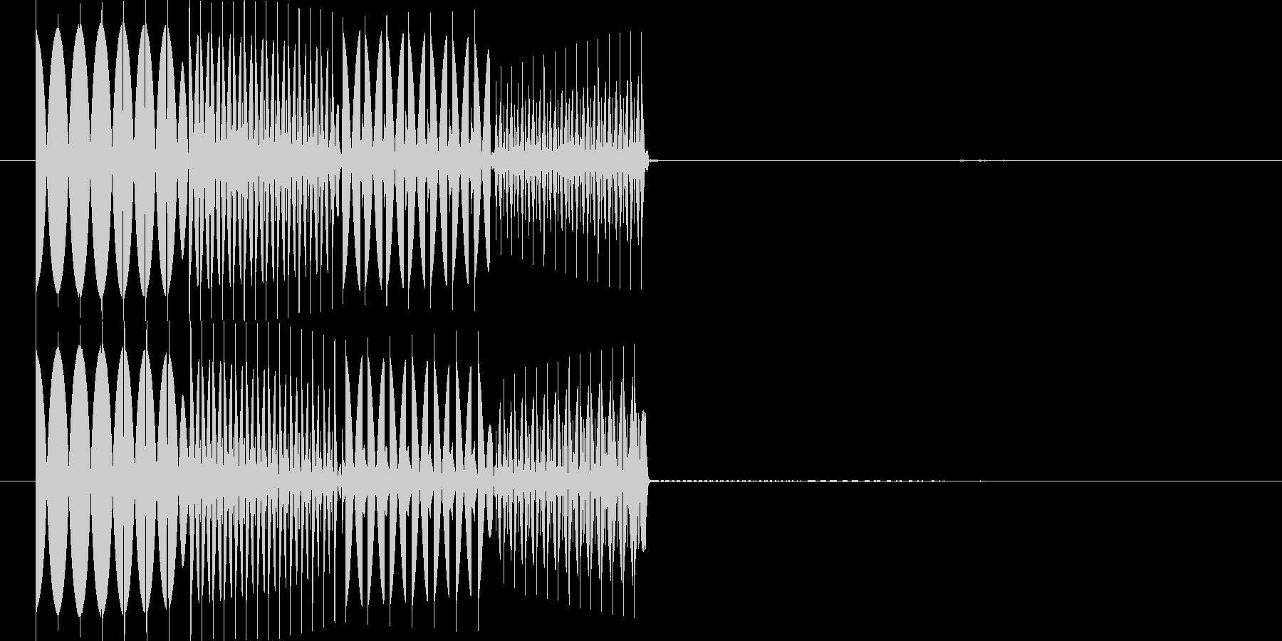 ピコピコ(エラー・アラート音 低音2)の未再生の波形