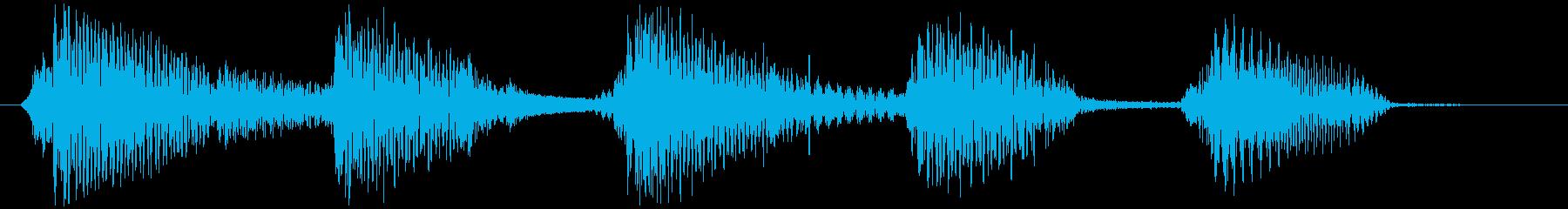 ウクレレ&ギターほのぼのサウンドロゴの再生済みの波形