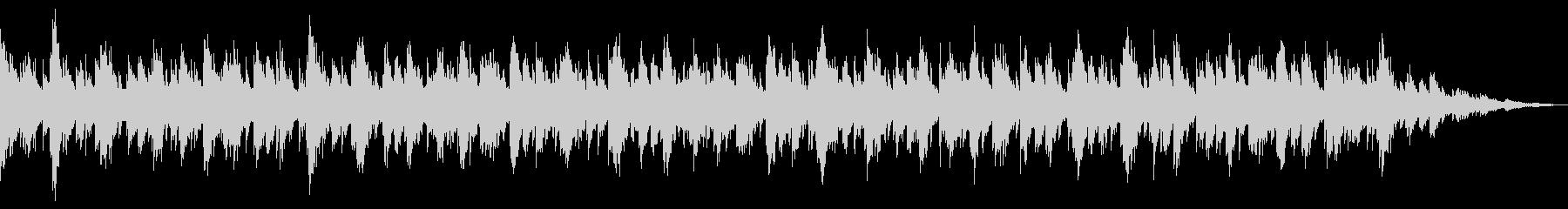 ピアノを用いたリズムのない環境音楽の未再生の波形
