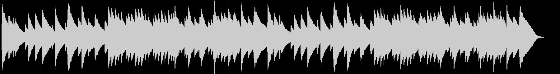 「もろびとこぞりて」オルゴール2の未再生の波形
