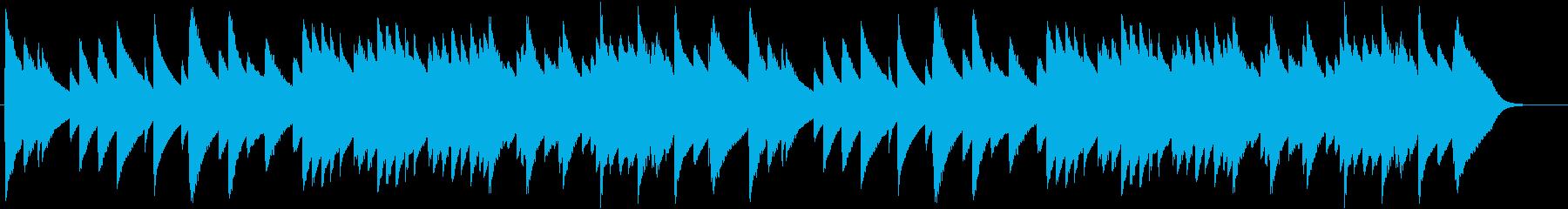 「もろびとこぞりて」オルゴール2の再生済みの波形