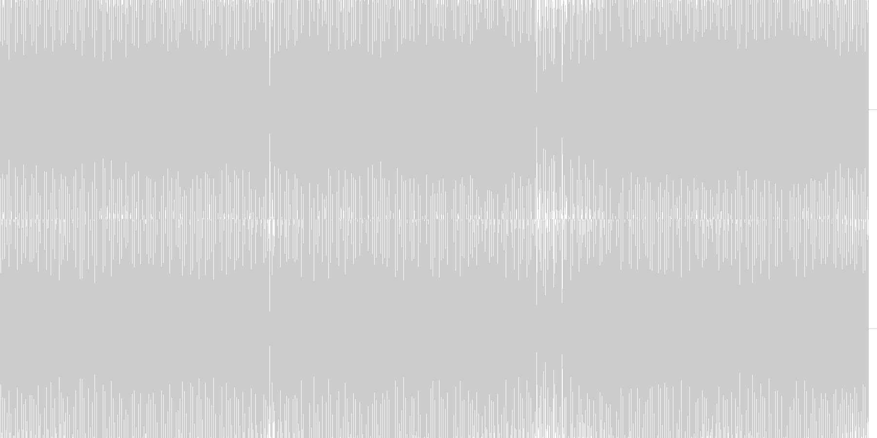 暗いハウスの未再生の波形