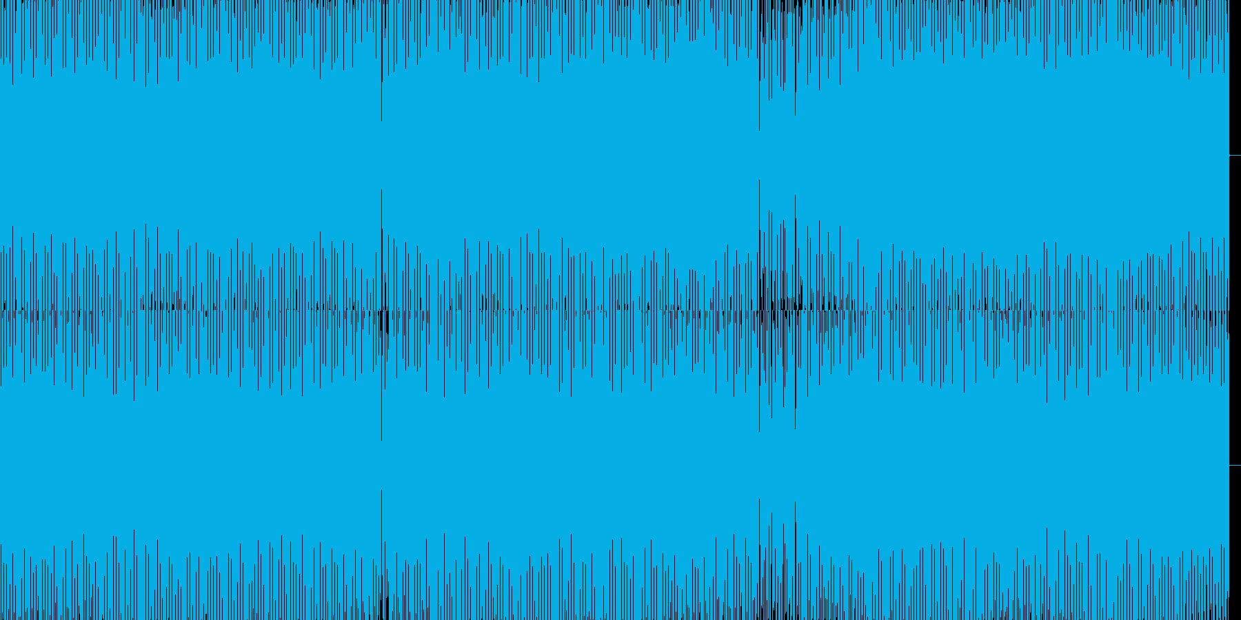 暗いハウスの再生済みの波形