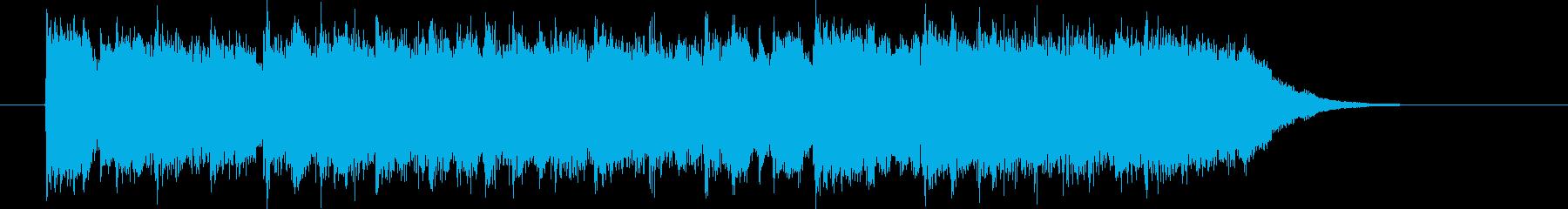華やかなメロディが特徴のポップスの再生済みの波形