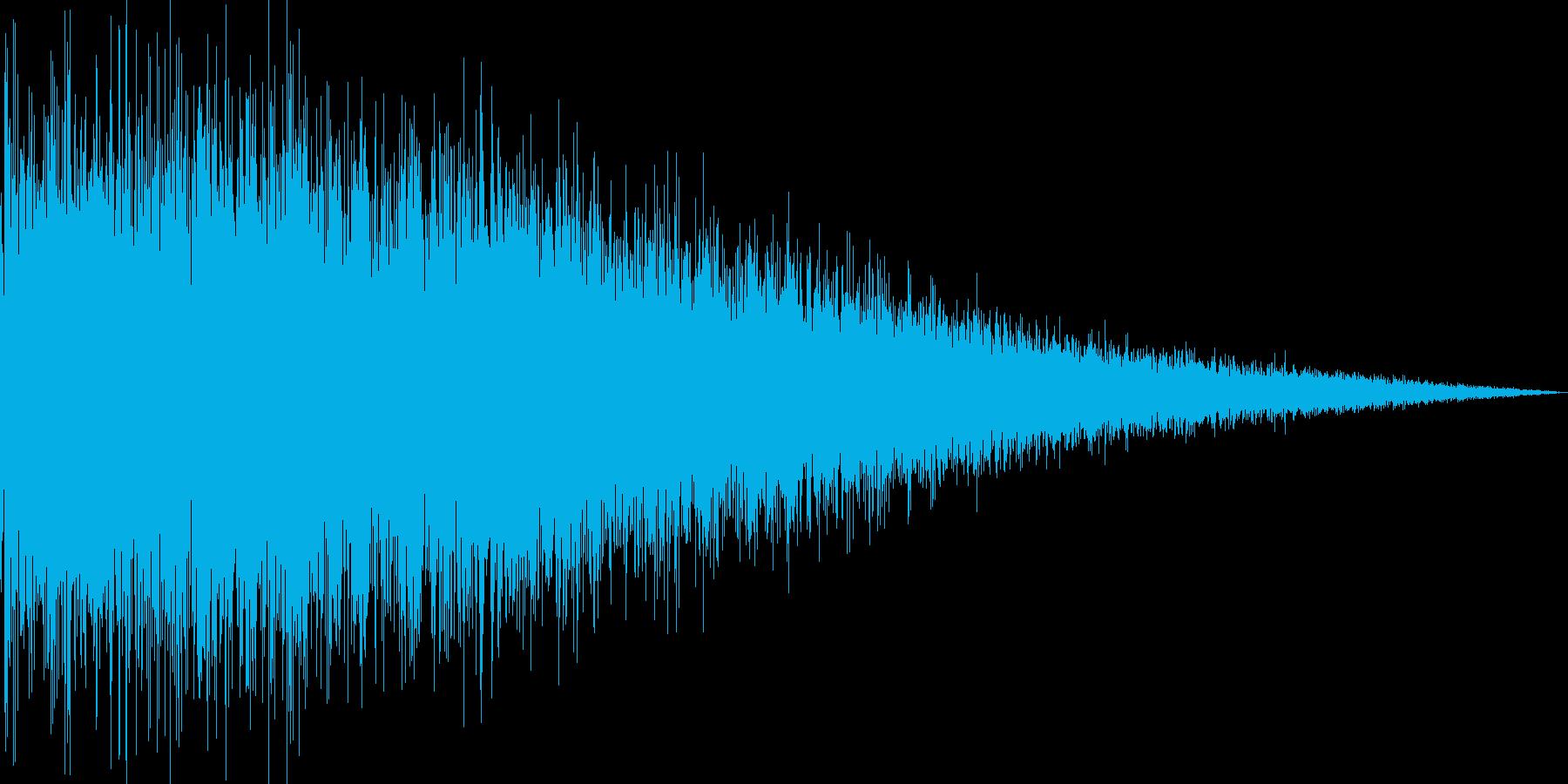プシュー(しぼむ 間欠泉 ガス)の再生済みの波形