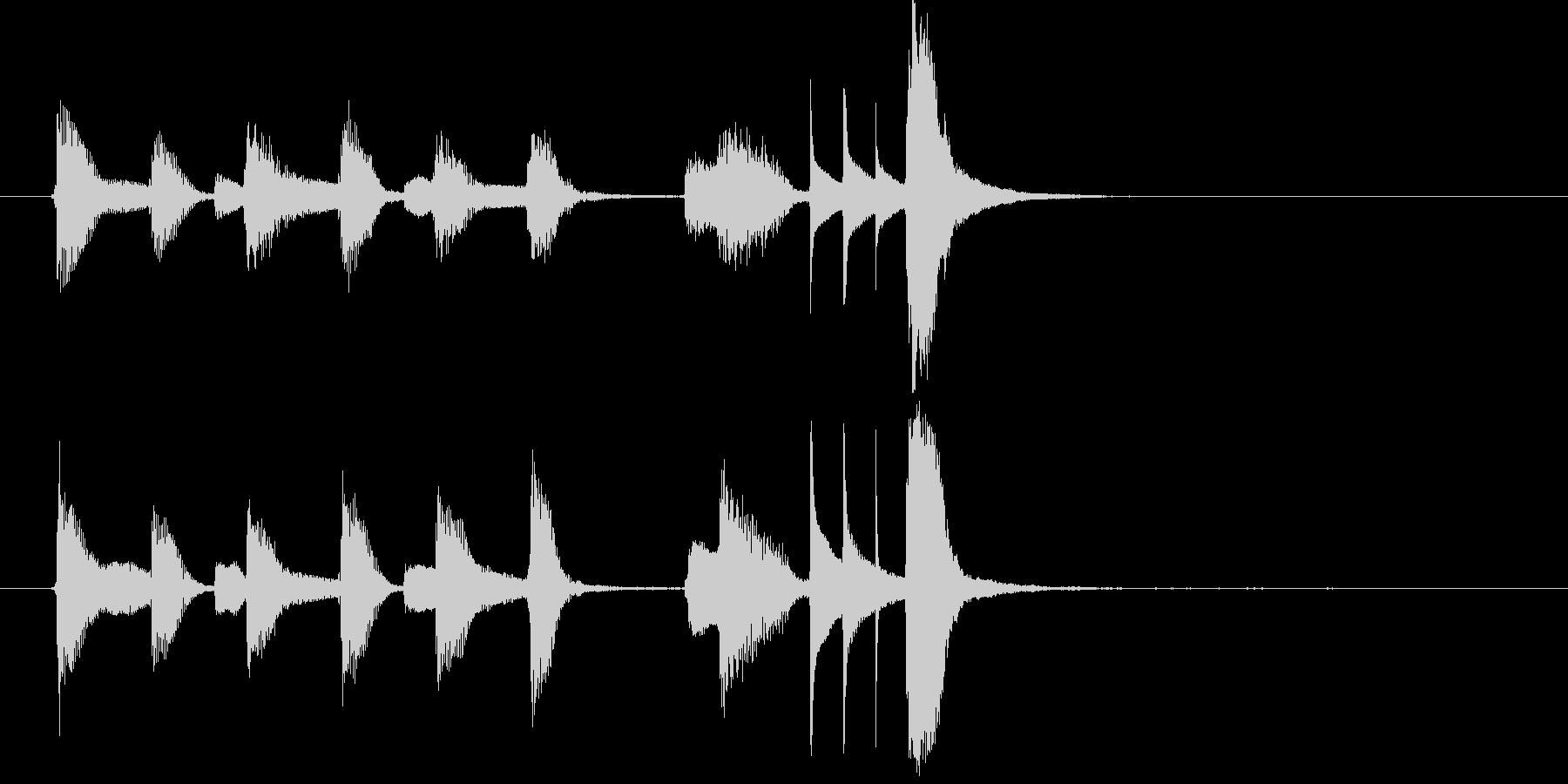日常系ピアノの軽やかでかわいい曲・6秒版の未再生の波形