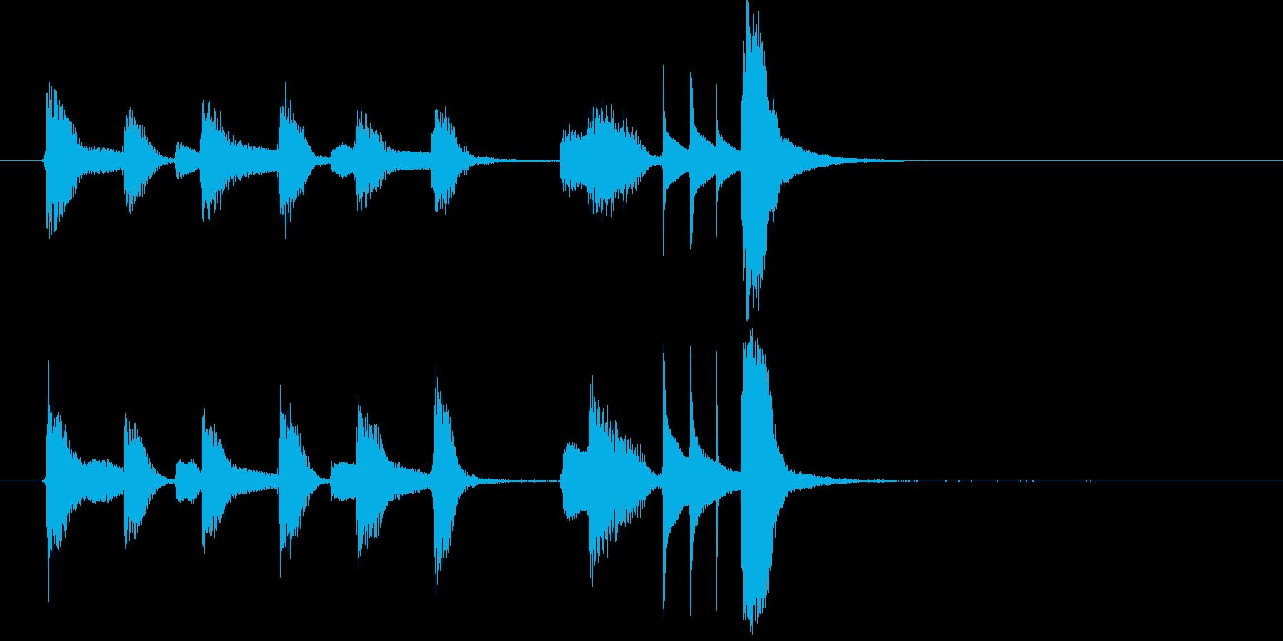 日常系ピアノの軽やかでかわいい曲・6秒版の再生済みの波形