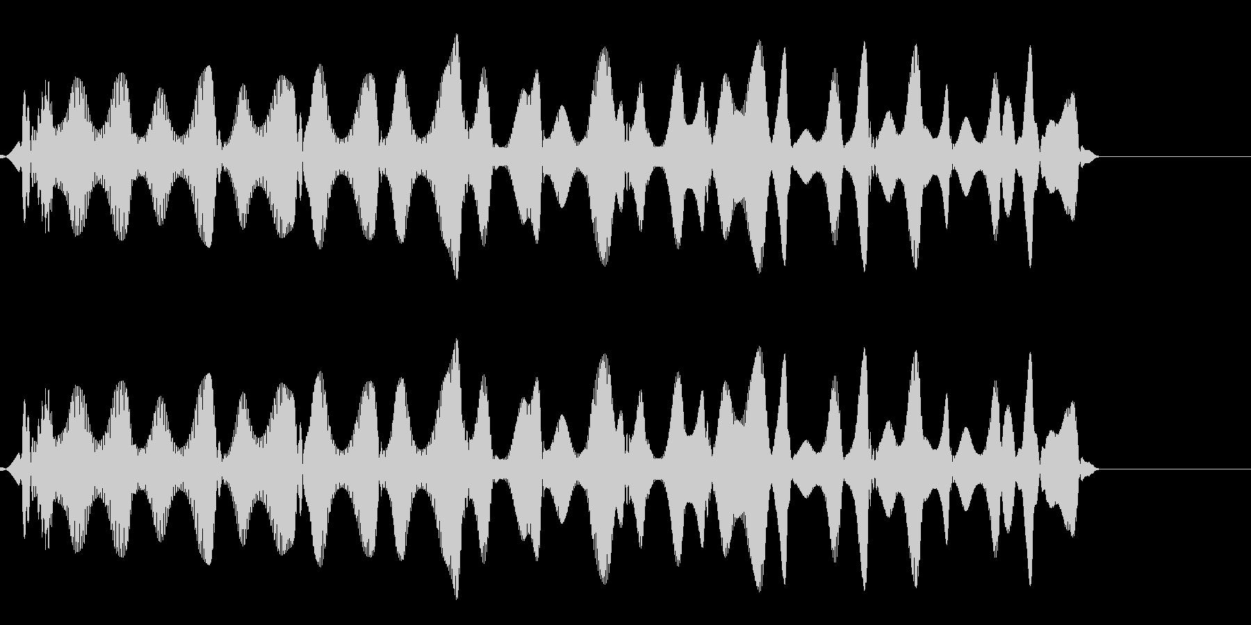 ピロピロ(飛行物体の移動音)の未再生の波形