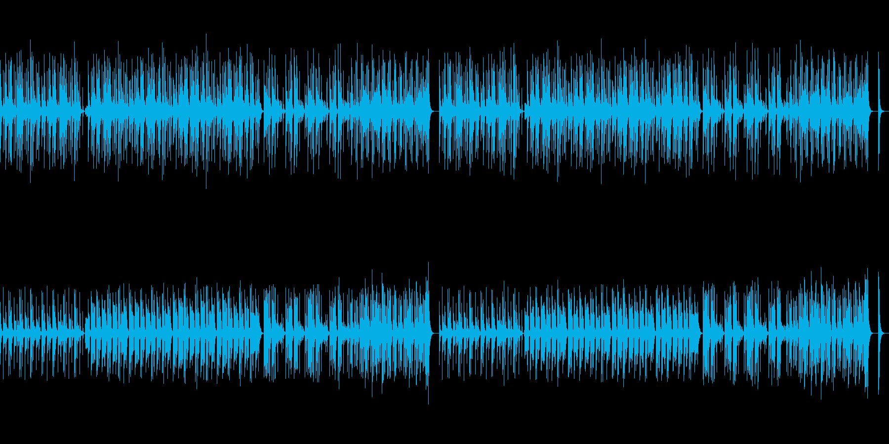 コミカル・かわいい・ゆるい雰囲気のBGMの再生済みの波形
