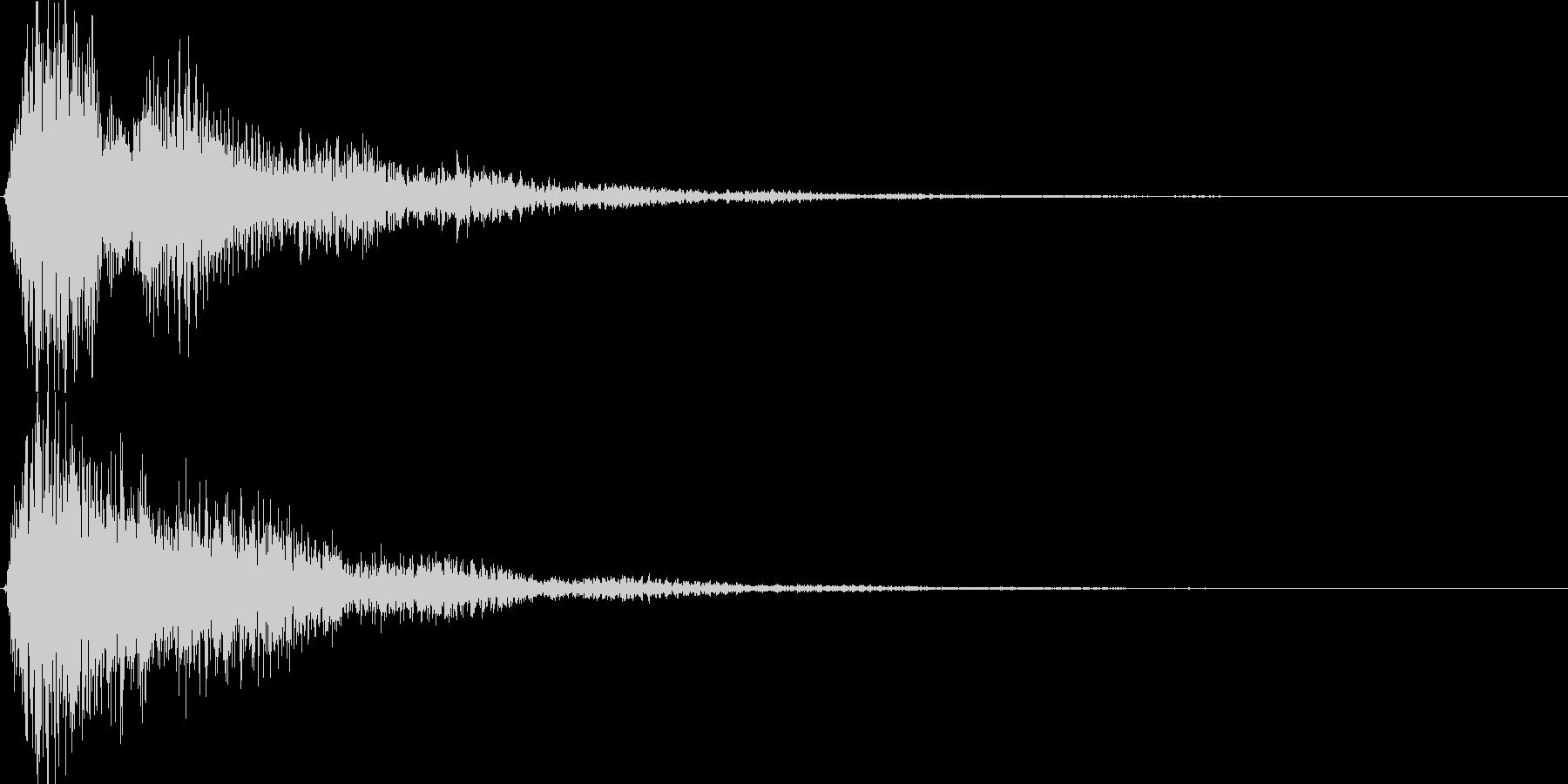 ゲーム、アプリ等の決定音、起動音にの未再生の波形