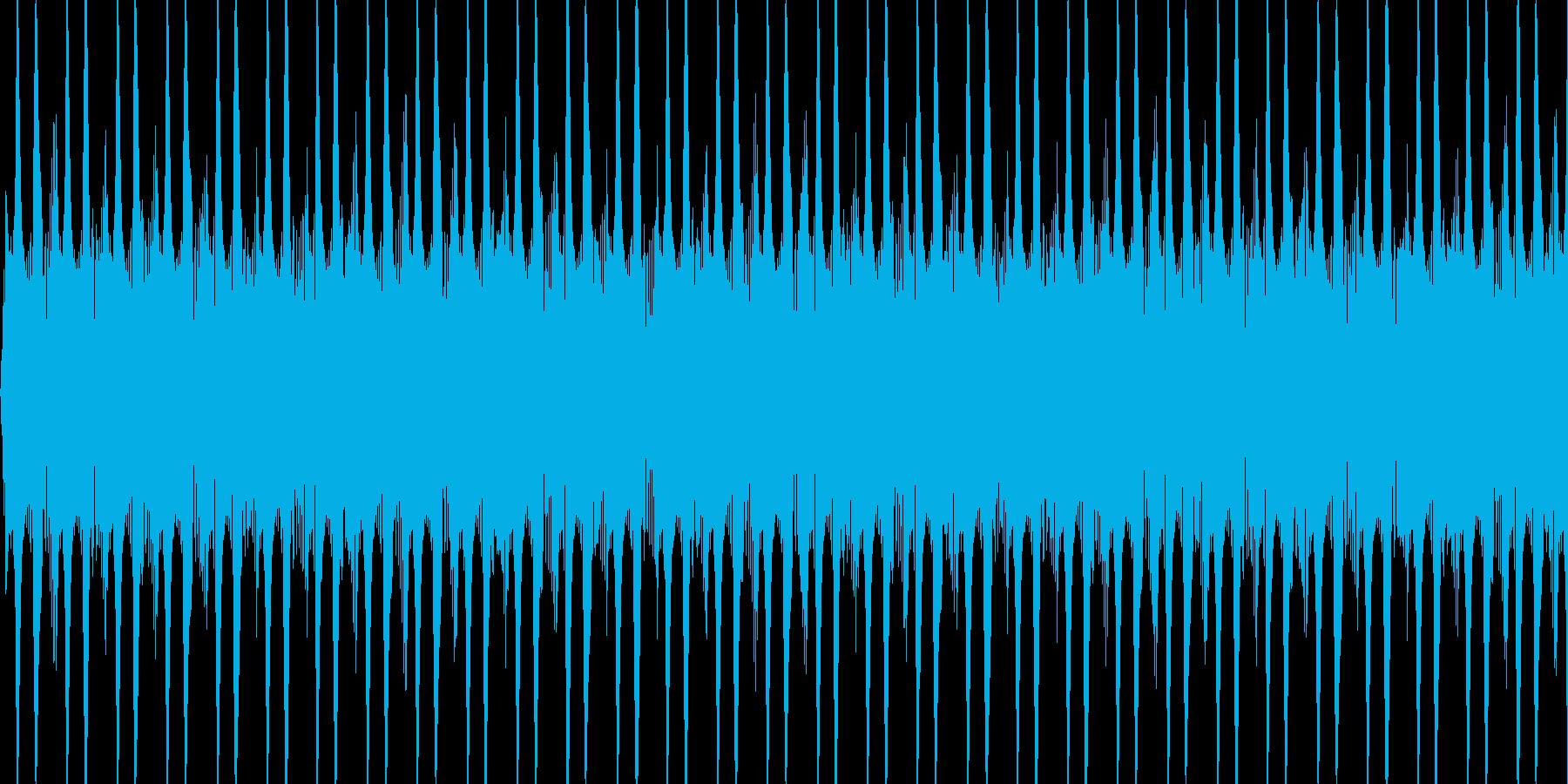 カウントするときの音の再生済みの波形