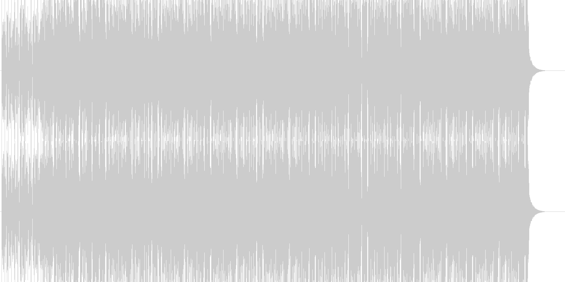 アニメや映像系に合うハウスの未再生の波形