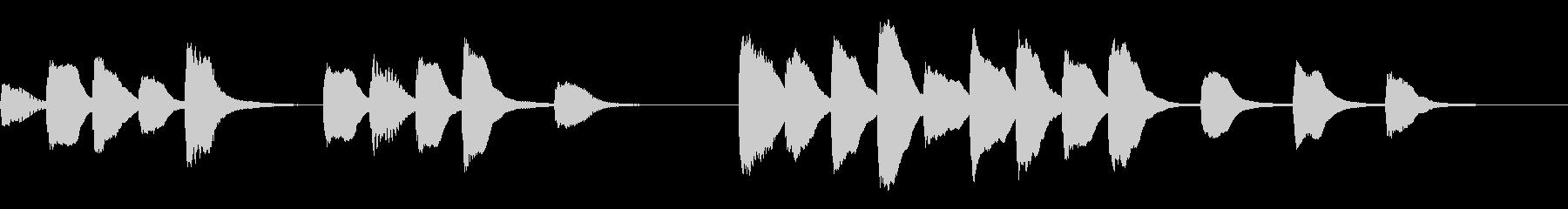 √ パズルゲームを想定したジングルの未再生の波形