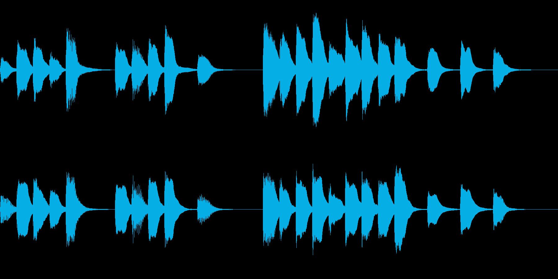 √ パズルゲームを想定したジングルの再生済みの波形