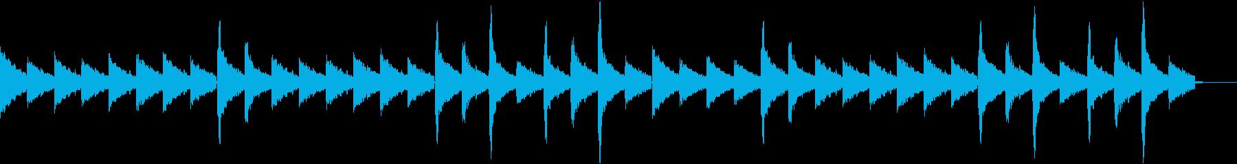 しっとりとしたBGMです。の再生済みの波形