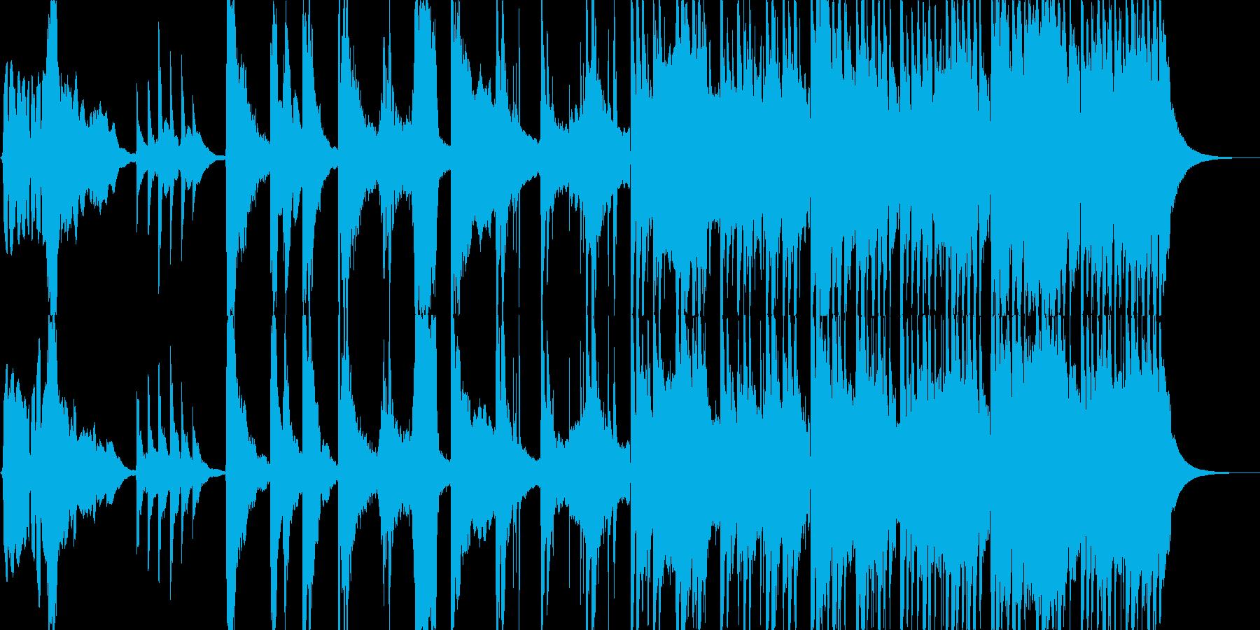 【和】落ち着いた和の曲の再生済みの波形