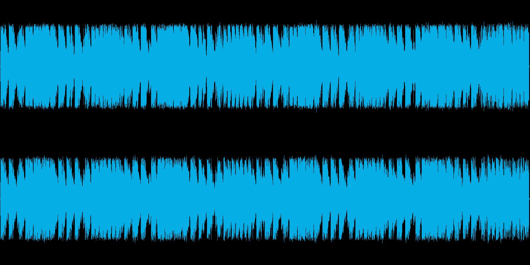 緊迫感と焦燥感のある電子系ボス系の曲<…の再生済みの波形