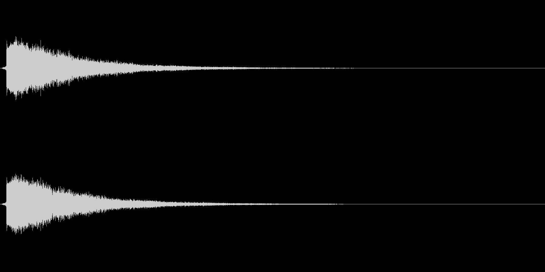 ピチュン(やられた音、ロスト音)の未再生の波形