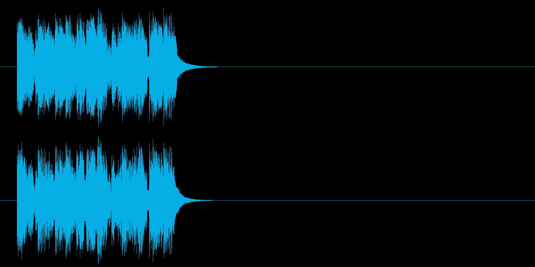 ジングル/明るい、楽しい(ポップ)の再生済みの波形