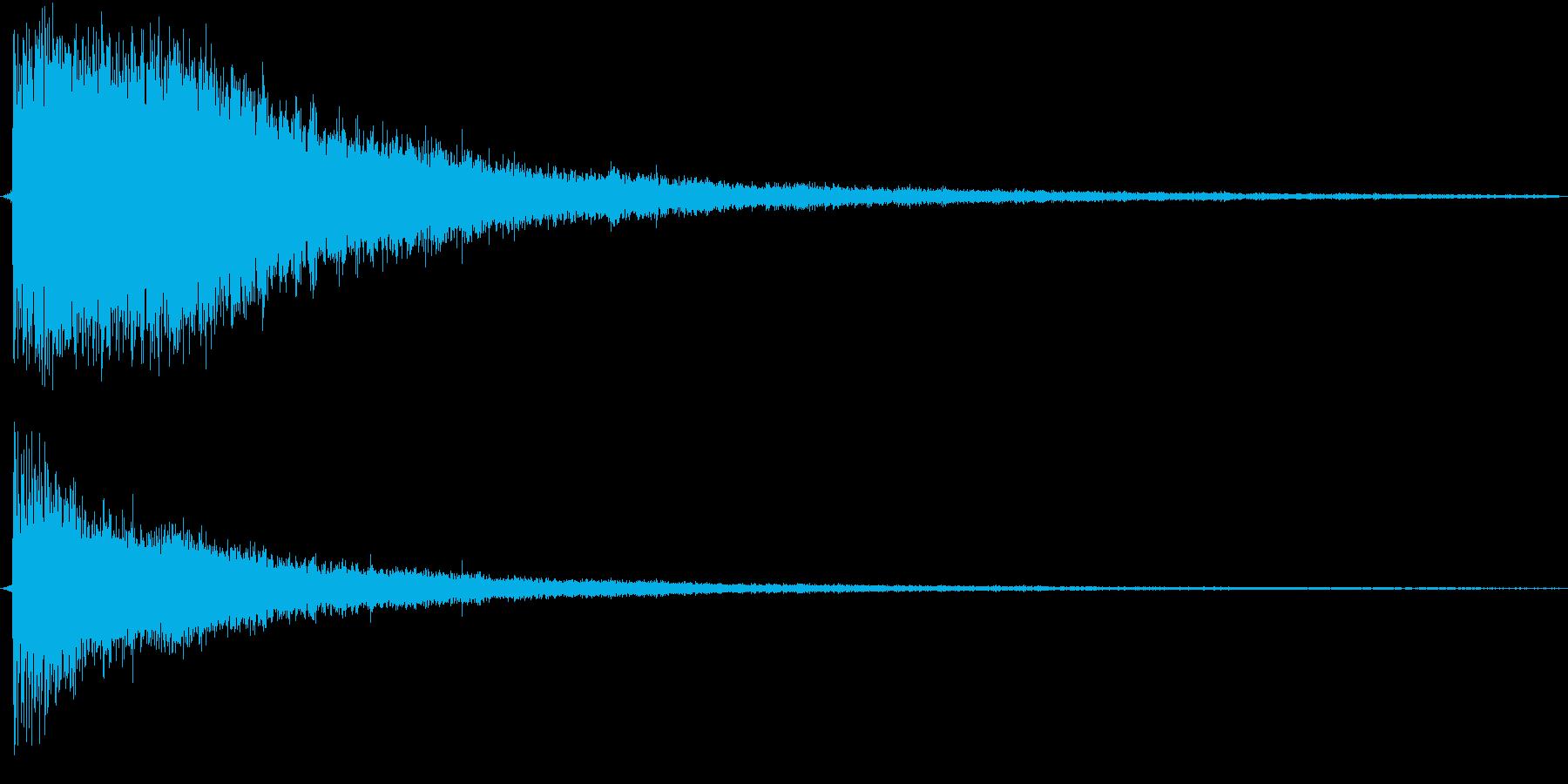 ジャーン!(ドラムロールのキメ部分)の再生済みの波形