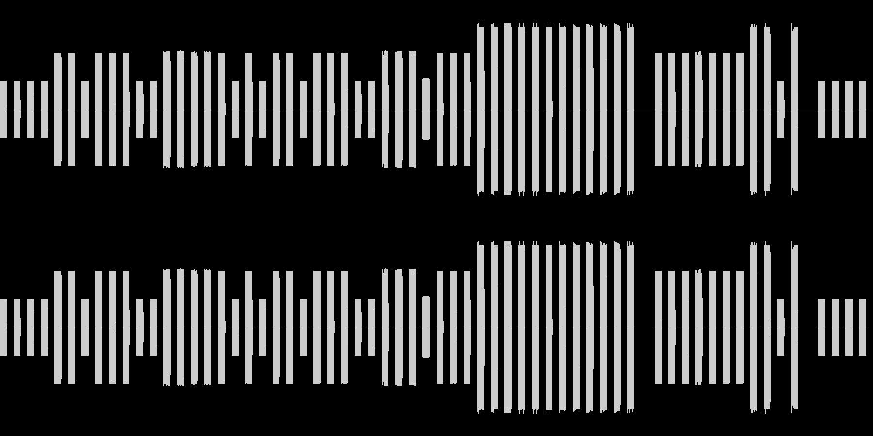 セーブデータ選択画面風チップチューンの未再生の波形