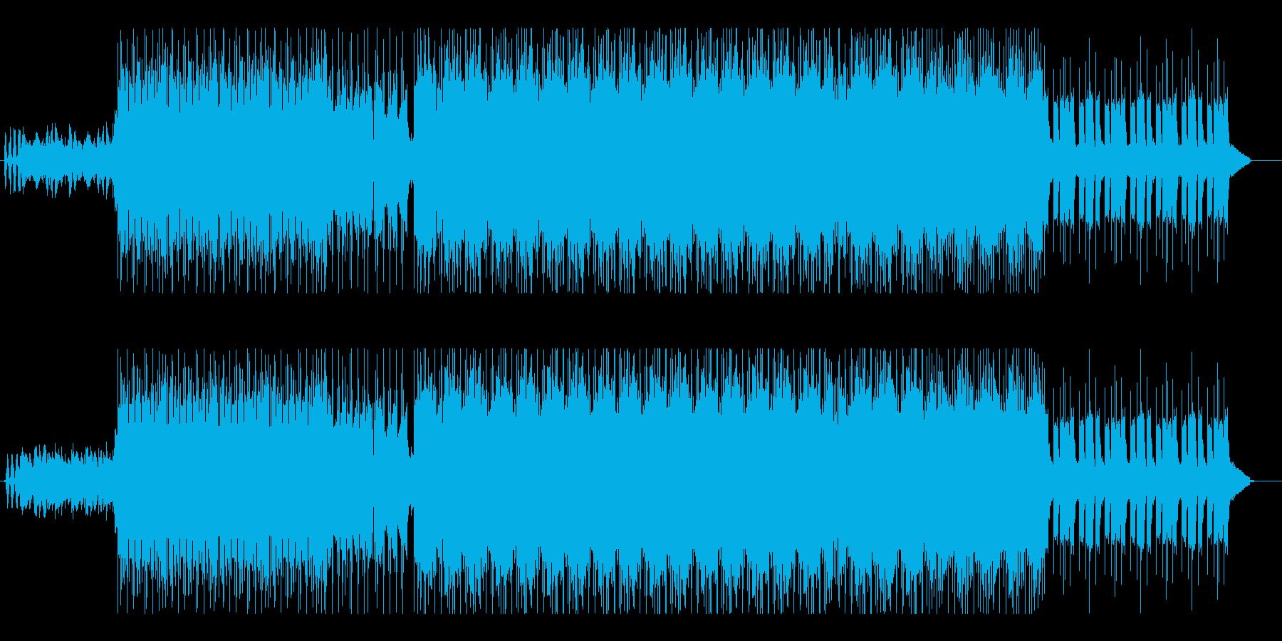 透明感のあるリラックス系BGMの再生済みの波形
