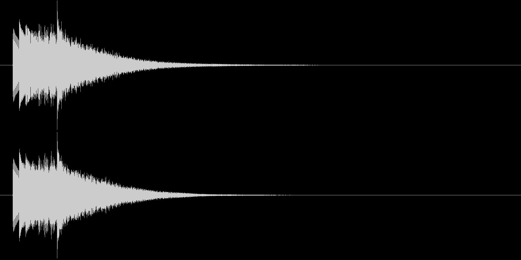ハープシコード音、不正解時などのSEの未再生の波形