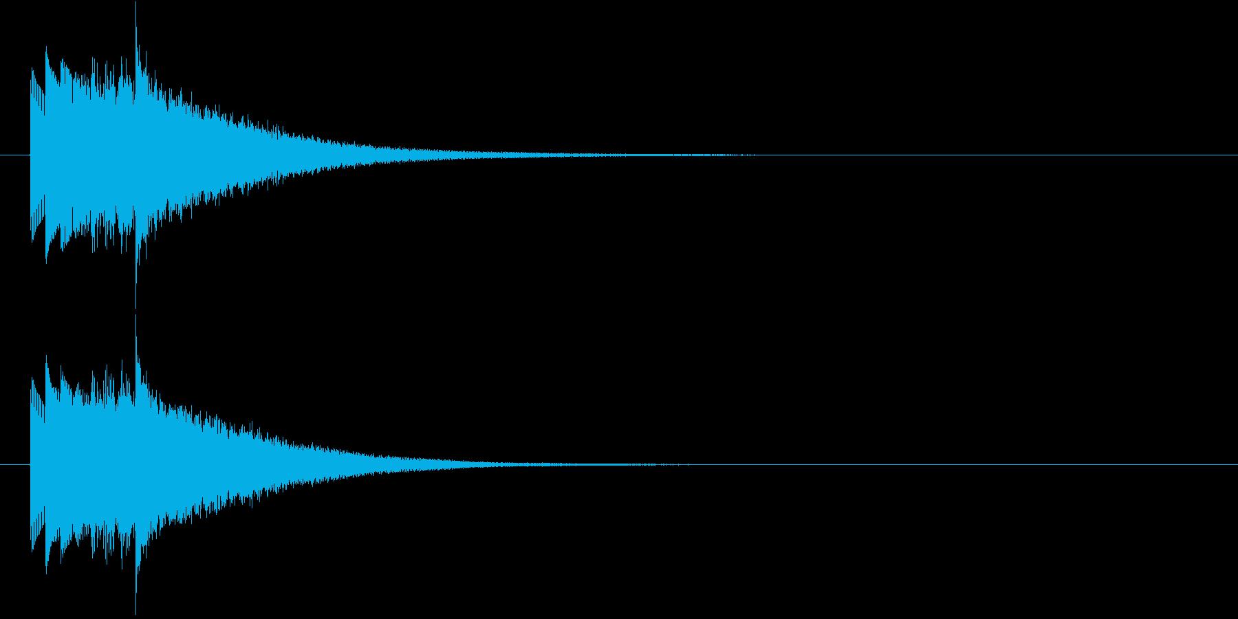 ハープシコード音、不正解時などのSEの再生済みの波形